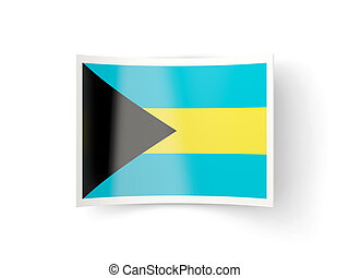Bent icon with flag of bahamas