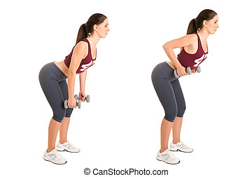 Bent Over Rows - Personal Trainer doing bent over rows for...
