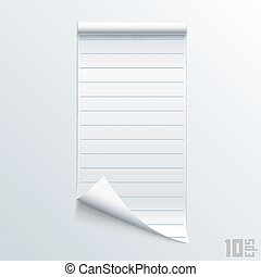 Bent piece of paper notebook