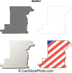 Benton County, Oregon outline map set - Benton County, ...