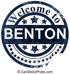benton stamp on white background