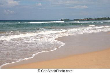 Bentota beach, Sri Lanka - Bentota Beach on the tsunami-hit...