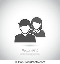 benutzer, element, vernetzung, vektor, design, sozial, icon., ikone