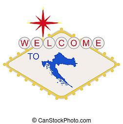 benvenuto, croazia, segno