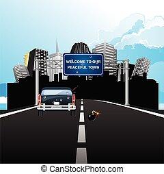 benvenuto, ironico, pacifico, segno