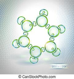 benzene, résumé, molécule, fond