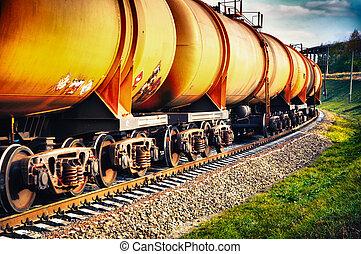 benzin, fűtőanyag, vasút kíséret, tartály
