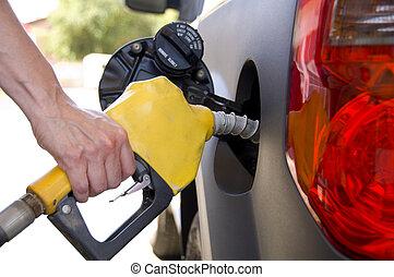 benzin, gáz, szivattyúzás, vagy