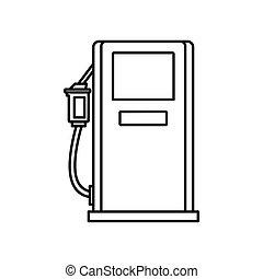 benzin, ikon, mód, állomás, áttekintés