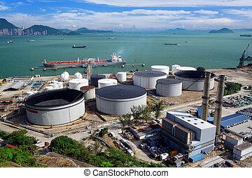 benzin, industriel, antenne,  Zone, Udsigter
