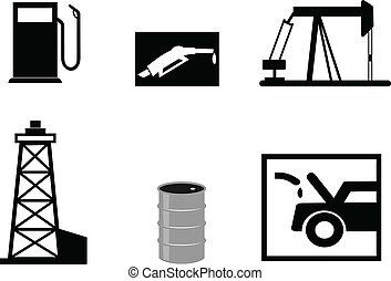 benzina, illustrazioni, vettore
