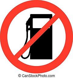 benzina, segno, stazione, conceduto, non, icona