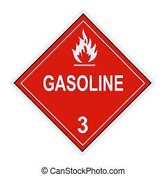 benzine, waarschuwingsetiket