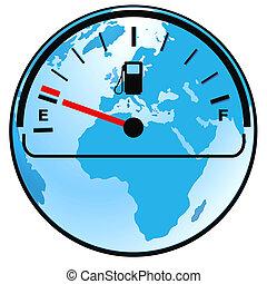 benzinemeter, wereld