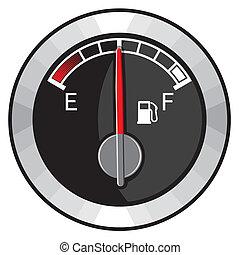 benzinetank, helft