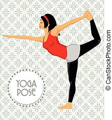 beoefenen, vrouw, yoga, jonge