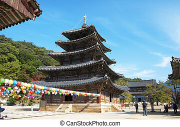 Beopjusa temples in south korea