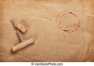 bepiszkol, dugóhúzó, bor, piros, bedugaszol