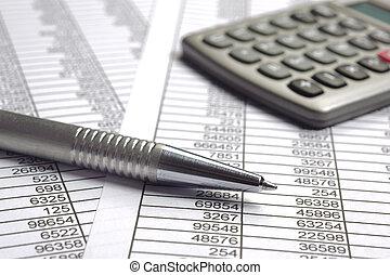 beräkning, finans, affär