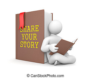 berättelse, dela, din