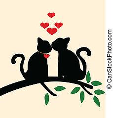 berättelse, kärlek, katt
