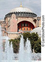 berömd, hagiasophia, moské, (, istanbul, turkiye, )