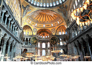 berömd, hagiasophia, moské, (, istanbul, turkiye, ).,...