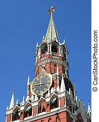 berömd, torn, kreml