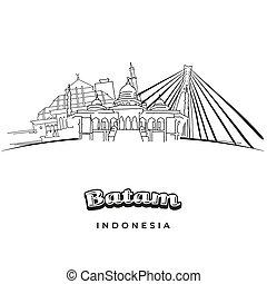 berühmt, reise, indonesien, batam, bestimmungsort