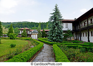 berühmt, sokolski, kloster, bei, gabrovo, in, bulgarien