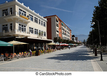 Berat known as the White City of Albania