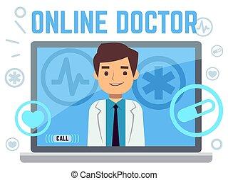 berater, online, heiligenbilder, wohnung, doktor