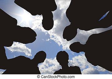 beratungsgespräch, himmelsgewölbe, geschaeftswelt