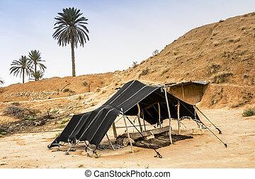 berberisco, túnez, áfrica, desierto de sahara, tienda