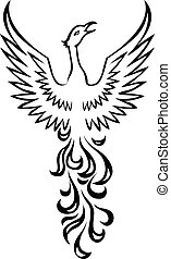 berd, phénix, tatouage