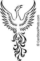 berd, phoenix, tatovering