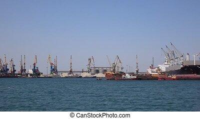 Berdyansk of seaport - BERDYANSK, UKRAINE - JUNE 15:...