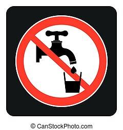 bere, segno, acqua, no