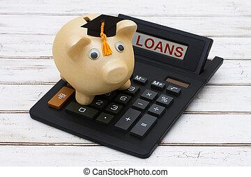 beregnende, lån, din, student