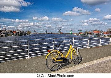 bereich, brücke, fahrrad, netherlands, amsterdam