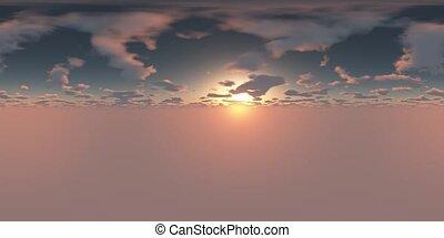 bereit, 360, panoramisch, gebrauch, himmelsgewölbe, vr, 3d,...