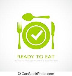bereit, essen, ikone