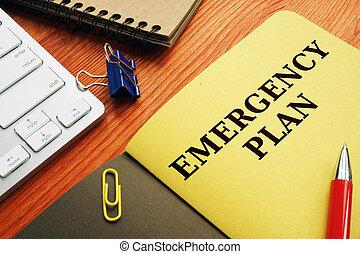 bereitschaft, desk., plan, oder, katastrophe, notfall