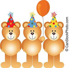 beren, gelukkige verjaardag, teddy