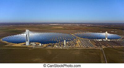 berendezés, antenna, erő, meleg, nap-, kilátás