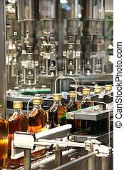 berendezés, folyékony, iparág, whisky, töltelék, gépek