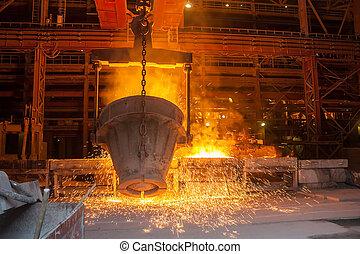 berendezés, metallurgical, szagol, fém