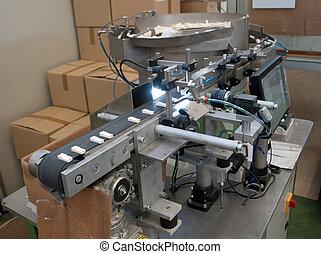 berendezés, modern, gyár, automatizált