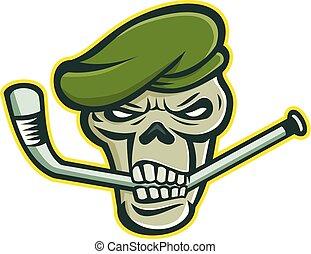 beret-skull-ice-hockey-mascot