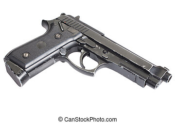 beretta pisztoly, elszigetelt, háttér, fehér, m9